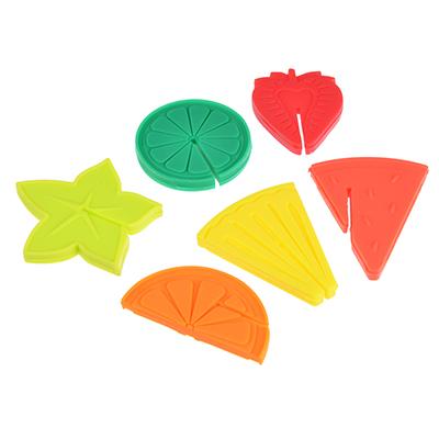 437-264 Набор маркеров для бокалов, в виде фруктов, 6 шт., силикон