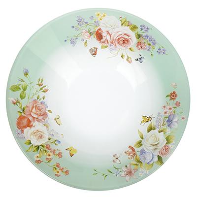 830-518 Нежное цветение Салатник стекло 228мм, S302009
