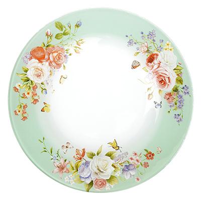 830-519 Нежное цветение Тарелка десертная стекло 200мм, S3008