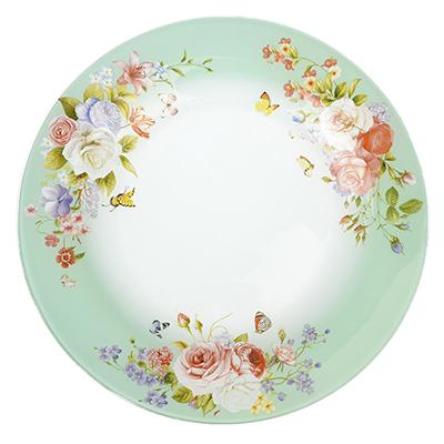 830-520 Нежное цветение Тарелка подстановочная стекло 254мм, S3010