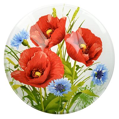 830-528 Маковое цветение Салатник стекло 152мм, S302006