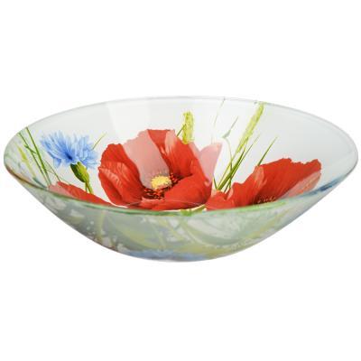 830-529 Маковое цветение Салатник стекло 178мм, S302007