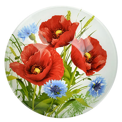 830-530 Маковое цветение Салатник стекло 228мм, S302009
