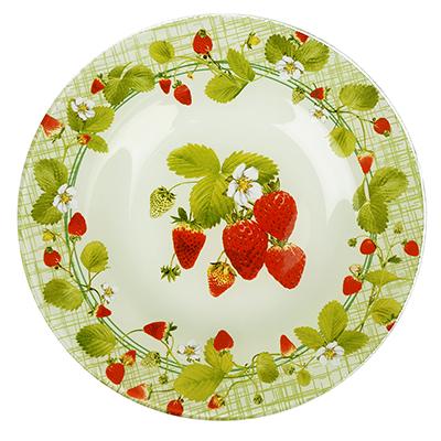 830-537 Сочная клубника Тарелка десертная стекло 200мм, S3008