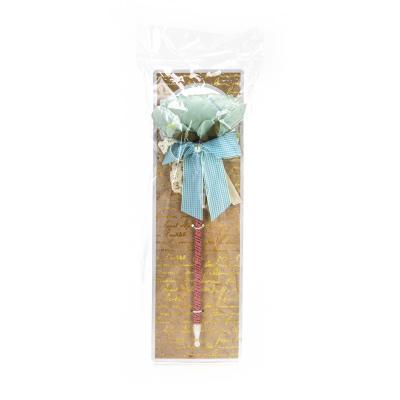 """627-011 LADECOR Ручка шариковая """"Пион"""", с бантом и жемчужинкой, с подвесом, 6 цветов"""