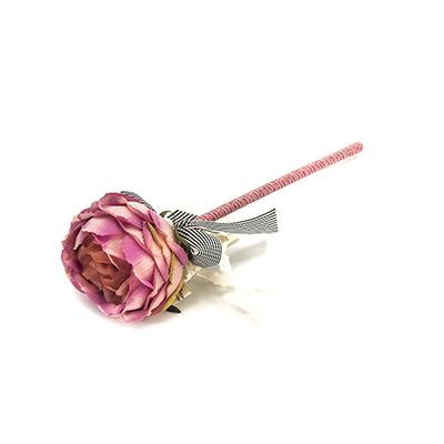 """627-012 Ручка шариковая """"Чайная роза"""", с бантом и жемчужинкой, 6 цветов LA DECOR"""