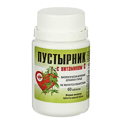 015-048 Пустырник с витамином С, 500 мг, 60 таблеток
