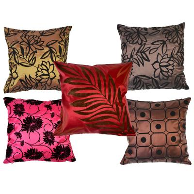 497-022 Декоративная наволочка для подушки жаккард, 40х40см