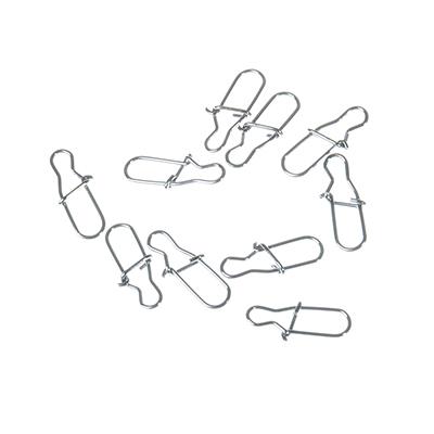148-048 AZOR Набор карабинов-застежек, 10шт, №1, тест 9 кг, 1012