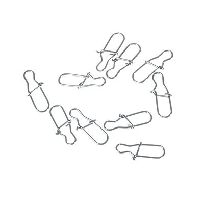 148-050 AZOR Набор карабинов-застежек, 10шт, №3, тест 18 кг, 1012