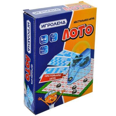 896-017 ИГРОЛЕНД Игра настольная Лото: 12 карточек, 90 номеров, пластик, картон, 20х14.5х4.2см