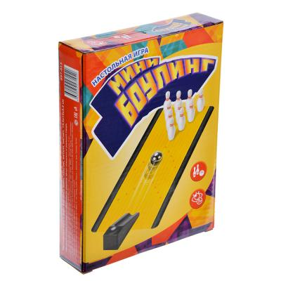 897-013 Настольная игра в виде Боулинга мини, пластик, металл, магнит, 19,5х15х3,5см