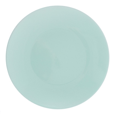 """824-976 Тарелка десертная d.20 см, керамика, бирюзовая, """"Глянец"""""""