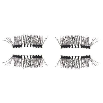 357-169 Накладные ресницы с 2-мя магнитами, цвет черный, #002