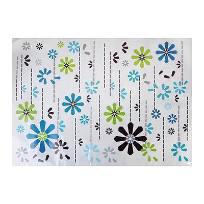 """416-194 Наклейка на стену декоративная, ПВХ, 50x70см, """"Цветы"""""""