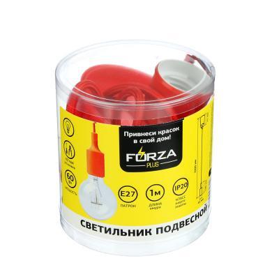 417-070 FORZA Светильник пластиковый подвесной, E27, 1 м, 5 цветов