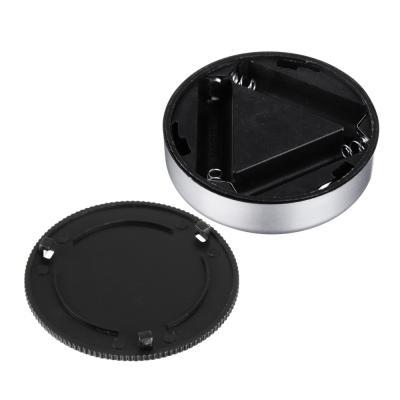 417-072 Светильник 4 LED точечный нажимной, d.6,5 см, 3xААА, пластик