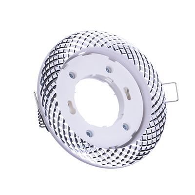 417-089 FORZA Светильник встраиваемый № 36 цоколь GX 53, d 110x30мм, белый, алюминий
