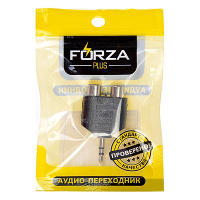 901-076 FORZA Аудио переходник 3.5 мм mini Jack М - 2RCA