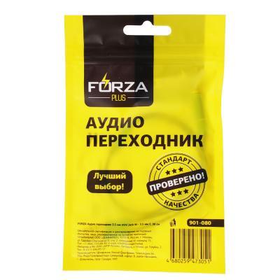 901-080 FORZA Аудио переходник 3.5 мм mini Jack М - 3.5 мм F, 30см
