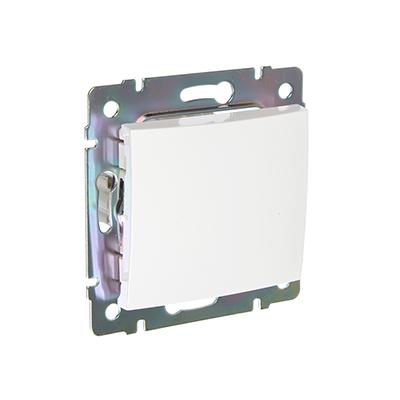 904-134 FORZA Элит Выключатель одноклавишный цвет белый 10А 250В пластик ABS