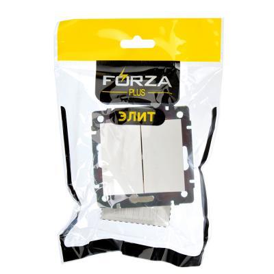 904-135 FORZA Элит Выключатель двухклавишный цвет белый 10А 250В пластик ABS