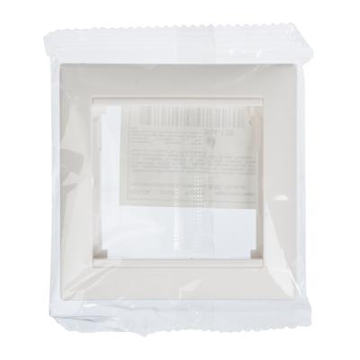 904-138 FORZA Элит Рамка одноместная горизонтальная, пластик ABS, белый