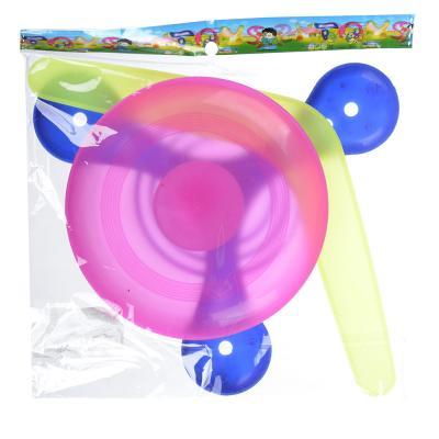298-031 Набор Бросай и лови: бумеранги, летающая тарелка, 3 пр., пластик, 21х21см