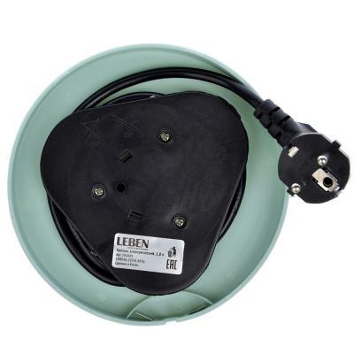291-039 LEBEN Чайник электрический 1,8л, 1800Вт, скрытый нагр.элемент, автооткл., стекло, MW-KT05