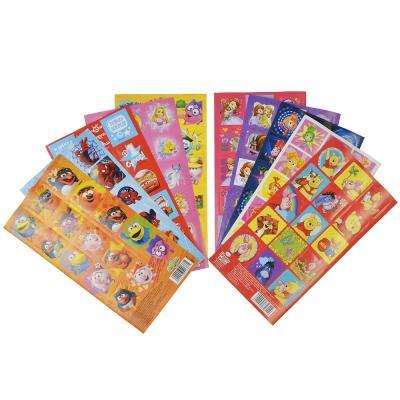 290-210 Набор декоративных наклеек Мультгерои, бумага, 15х8, 10 дизайнов