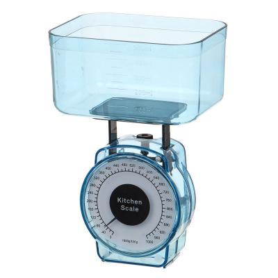 487-053 Весы кухонные механические, 1кг, 4 цвета