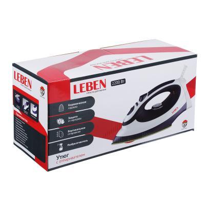 249-016 LEBEN Утюг с отпаривателем 2 200 Вт, подошва - керамическое покрытие, ES-2098