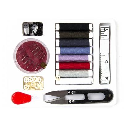 308-222 Набор для шитья, 7пр. (нитки 8цв), пластик, металл, полиэстер