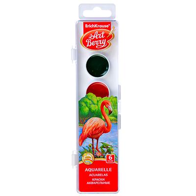 231-007 Акварельные краски, 6 цветов, УФ защита яркости, в пластиковой уп., ERICH KRAUSE