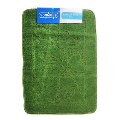 599-061 SonWelle Коврик для ванной ВЕТКА 50х70см полипропилен зеленый