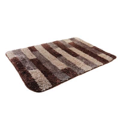 599-062 SonWelle Коврик для ванной ПОЛОСКА 50х75см микрофибра коричневый