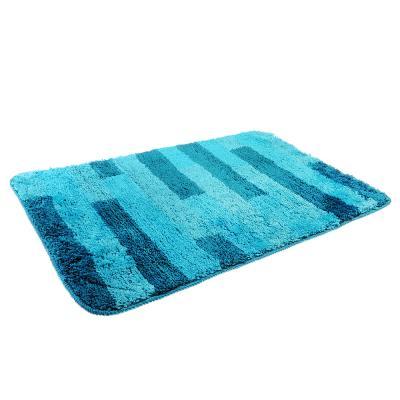 599-063 SonWelle Коврик для ванной ПОЛОСКА 50х75см микрофибра синий