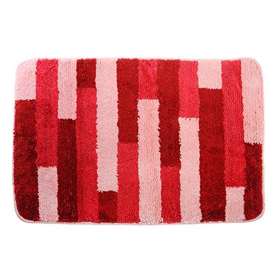 599-064 SonWelle Коврик для ванной ПОЛОСКА 50х75см микрофибра розовый