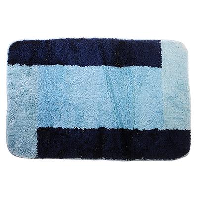 599-067 SonWelle Коврик для ванной ОТТЕНОК 50х75см микрофибра синий
