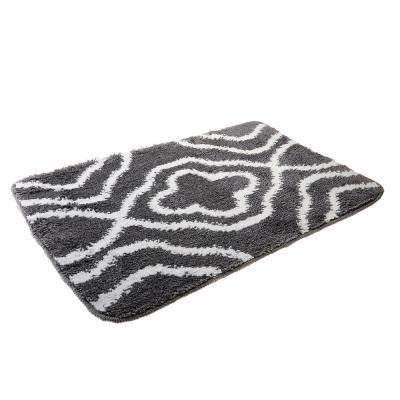 599-077 SonWelle Коврик для ванной ОРНАМЕНТ 50х75см серый