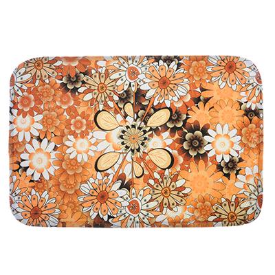 599-079 SonWelle Коврик для ванной ЦВЕТЫ флис, принт, губка, 0,8см, 40x60см