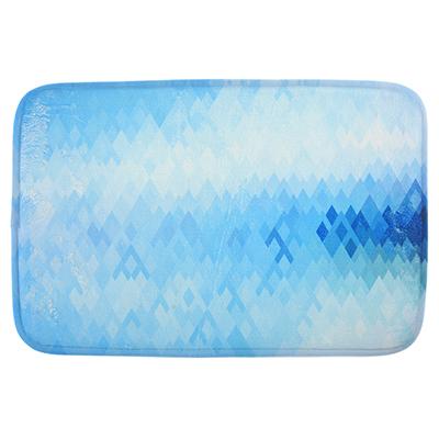 599-080 SonWelle Коврик для ванной ВОЛНА флис, принт, губка, 0,8см, 40x60см