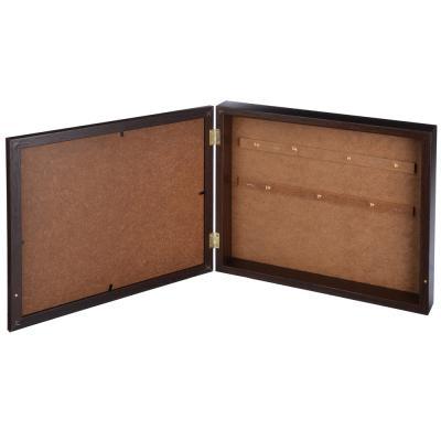 510-109 Ключница закрытая с изображением карты,на 7 крючков, 31х26х5см, МДФ, Дизайн