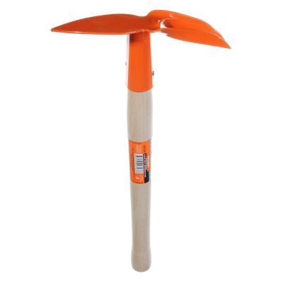 639-039 ЕРМАК Мотыжка комбинированная 3 витых зуба 35см с деревянной ручкой