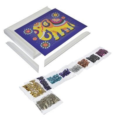 281-145 ЛОРИ Картина из пайеток, 6 пр., картон, пенопласт, металл, 11х15х4см, 3 дизайна