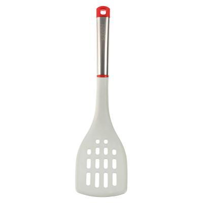881-185 Лопатка с прорезями жаропрочный нейлон, ручка нержавеющая сталь/пластик, Премьер SATOSHI