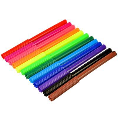 256-065 Набор фломастеров, 12 цветов, с цветным колпачком, ШКОЛЬНИЦЫ