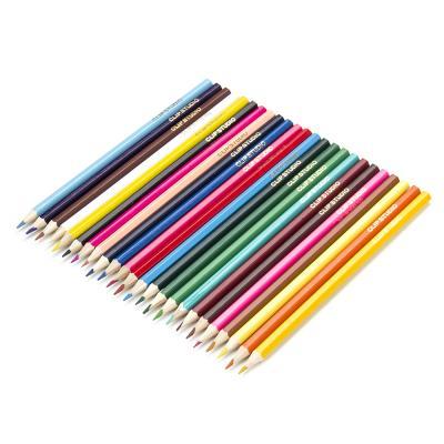 228-027 Набор карандашей для рисования, 24 цветов, заточенные, КРЫЛАТЫЕ ЦВЕТЫ ФЛЮО