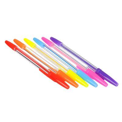 627-013 Набор ручек шариковых 6 цветов, линия 0,7 мм КРЫЛАТЫЕ ЦВЕТЫ ФЛЮО