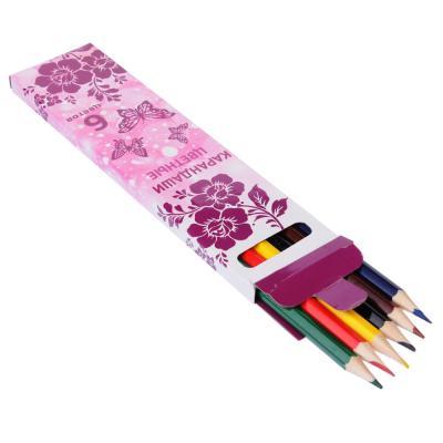 228-028 Карандаши для рисования, 6 цветов, заточенные, ФЭНТЕЗИ